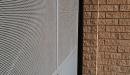 puerta batiente vista exterior perfil