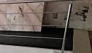 barandilla borrote redondo pasamanos rampa vista lateral detalle