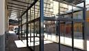 Cerramiento aluminio con techo policarbonato vista lateral izquierda