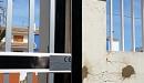 puerta acero inox barrotes aluminio motorizada 3