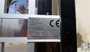 puerta acero inox barrotes aluminio motorizada 4