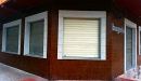 persiana aluminio anodizado acero vista frontal ventana