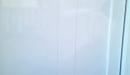 puerta aluminio lacado blanco panel impreso lineas detalle