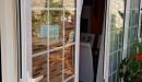 ventanal pr. apertura exterior vidrio con barrotillo vista detalle